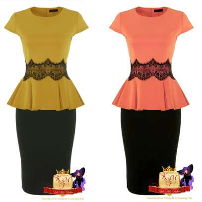 Peplum Top & Skirt Set
