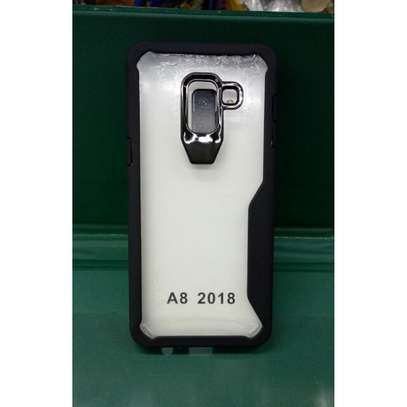 IPAKY Hybrid Shockproof Transparent Case for Samsung A8 2018/A8 Plus 2018 image 2