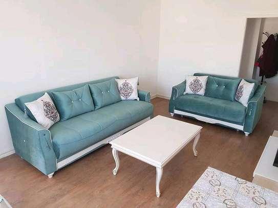 Modern livingroom sofas/tufted sofas/Blue tufted sofas for sale in Nairobi Kenya/Best sofa designs/Sofa stores in Nairobi Kenya/five seater sofa image 1