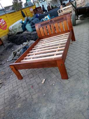 Simple wooden bed 4by6 image 1