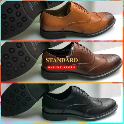 Men's Official Italian Leather Shoes with rubber sole image 9