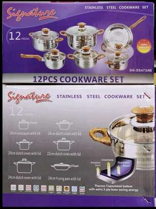 12pcs Signature stainless steel sufuria/cookware set image 2