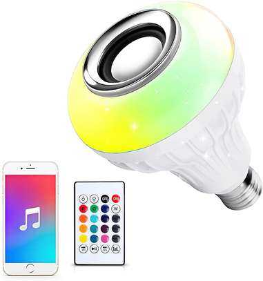 Ustellar LED Wireless Light Bulb Speaker, RGB Smart Music Bulb, E26 Base Color Changing with Remote Control for Party, Home, Halloween Christmas Decorations image 1