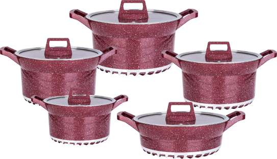 10pcs BOSCH Germany Brand Granite Cooking Pots image 1