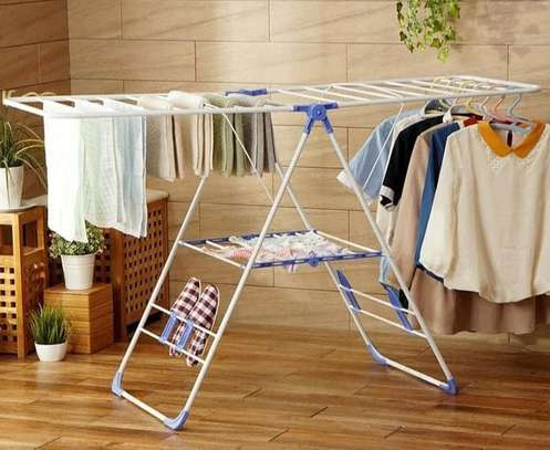 Foldable Portable Clothes Drying Rack image 1