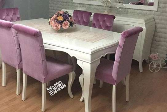 Purple dining chairs/six seater dining set image 1