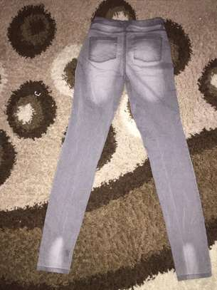 Ladies Grey Jeans