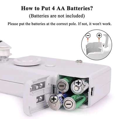 Hand held Portable sewing machine Battery powered image 3
