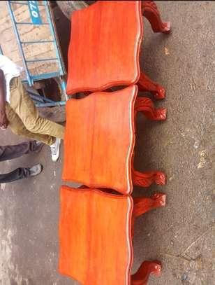2Foot stools(Solid Mahogany) image 1