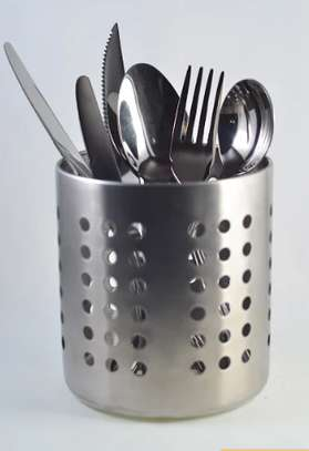 Stainless Steel Cutlery Holder.