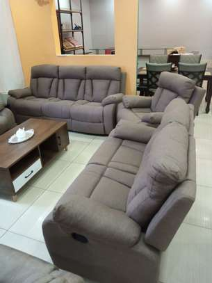 Fabric Recliner Sofa 6 Seater image 1