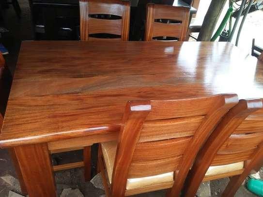 6 Seater Solid Mahogany Wood Sets image 4