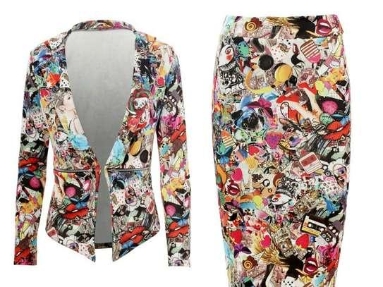 Matilda Inspired Graffiti Skirt Suit image 1