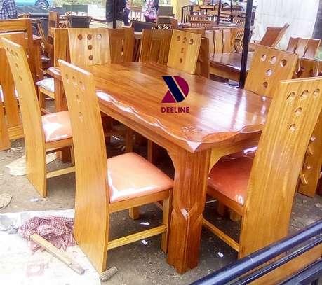 6 Seater Solid Mahogany Wood Sets image 5