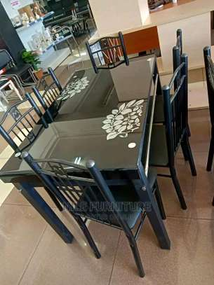 Home dining table with 6 chairs set for sale image 1