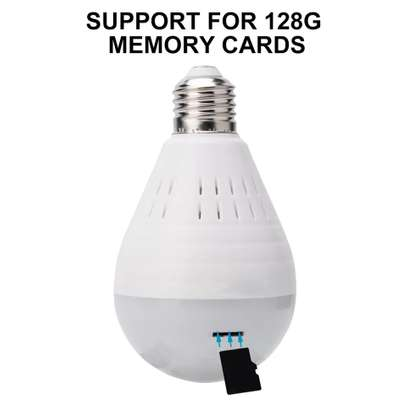 1080P WiFi Camera Light Bulb Panoramic Camera with IR Motion Detection, Night Vision, Two-Way Audio, Cloud Service for Home, Office, Baby, Pet Monitor image 5