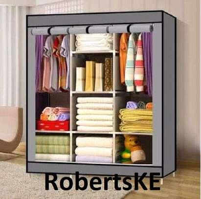 grey portable wardrobes image 1