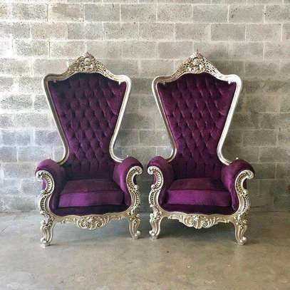 Single seater antique sofa for sale in Nairobi Kenya/one seater sofa/purple antique sofas for sale in Nairobi Kenya image 1