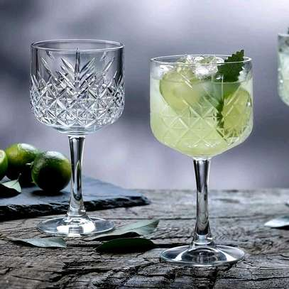 Crystal Wine glass heavy duty image 1