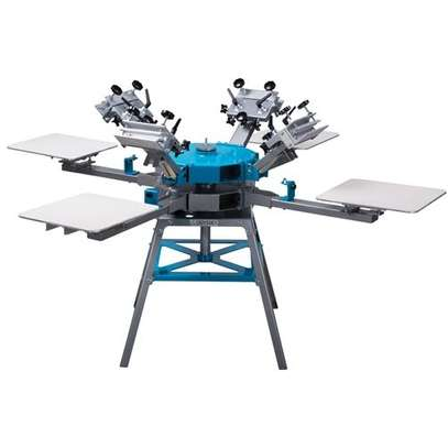 4 Color 4 Station Screen Printing Press Four Machine Equipment image 1