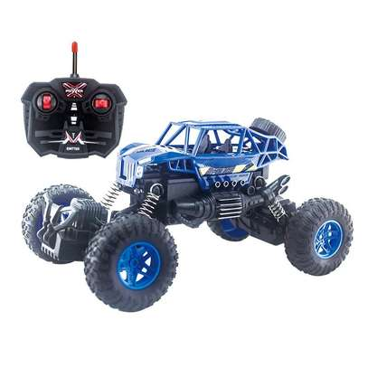 Blue rock crawler toy car image 2