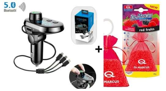Q15 Bluetooth FM Modulator with FREE car Air freshener image 1