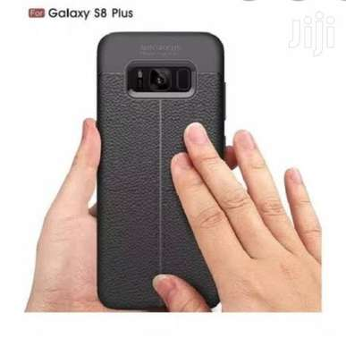 Auto Focus Leather Pattern Soft TPU Back Case Cover for Samsung S8/S8 Plus image 5