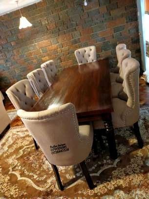Wooden dining tables for sale in Nairobi Kenya/eight seater dining set/tufted dining chairs for sale in Nairobi Kenya image 2