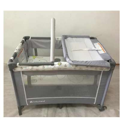 Baby Playpen Bed Baby Crib With Changing Table And Overhead Toys