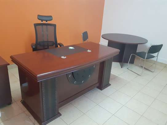 Executive Office Mahogany Desk 1.6Meters With Free Delivery & Installation image 6