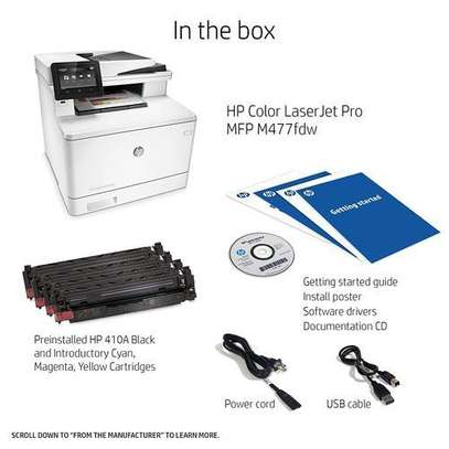 SHARE THIS PRODUCT   HP LaserJetPro M477fdw WIFI-Fax Scan Print Copy Email image 2