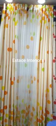 Matched curtains and sheers image 5