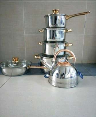 Stainless steel cookware set image 1