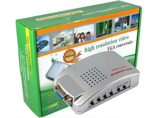 High Resolution VGA Video Conversion: VGA To Video S-Video / PC To TV (VGA To AV ) Converter Box