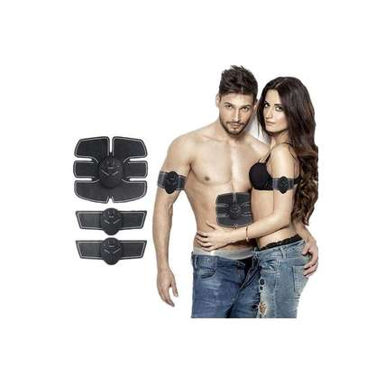 Smart Abs Stimulator Training Fitness Gear Muscle Hands And Abdominal Toning Trainer - Black image 1
