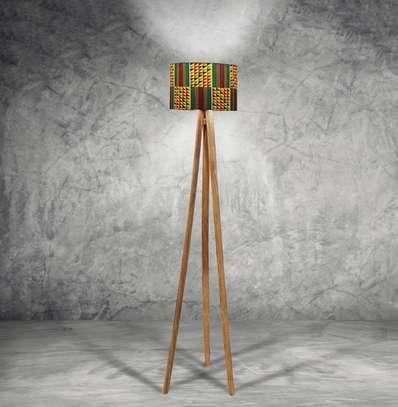 Wood Tripod Floor Lampshade image 3