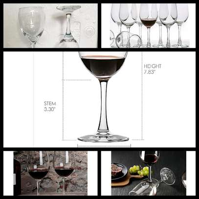 6pcs high quality wine glass image 1