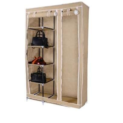2 Column Portable Wardrobe - 110*46*175cm - Brown image 1
