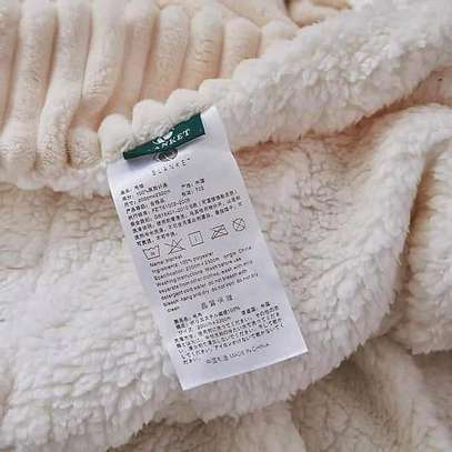 Sherpa fleece blanket image 1