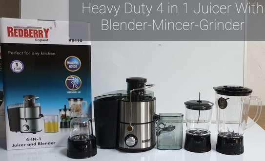 Redberry 4 in 1 Heavy duty Juicer with Blender/Mincer/Grinder