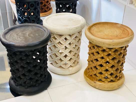 African Coffee Stools and Tables
