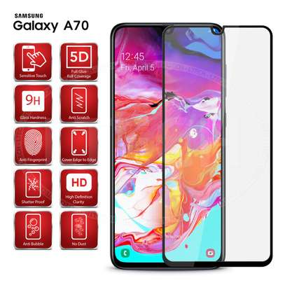 5D HD Clear Tempered Glass Front Screen Protector for Samsung A50 image 5