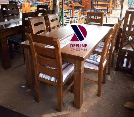 6 Seater Solid Mahogany Wood Sets image 8