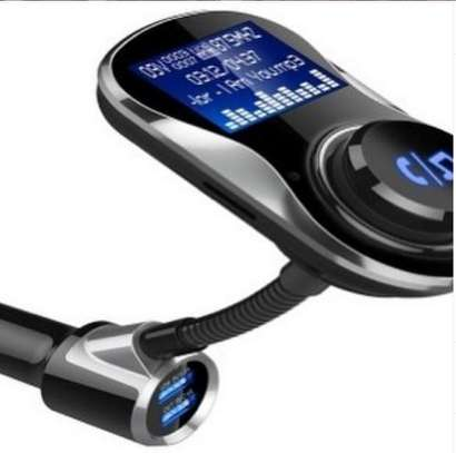 Car FM modulator Bluetooth enables with car charger image 1