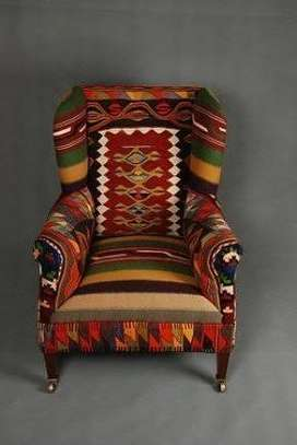 Kitenge Armchairs/Wing back chairs image 6