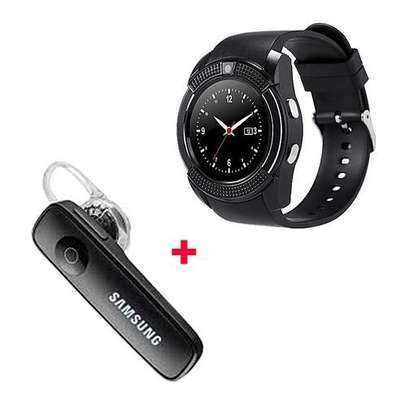 Barry S006 Smart Berry Smart Watch with Free Bluetooth- Black image 1