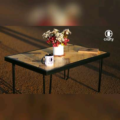 Hairpin legs Pallets Top Coffee Table image 2