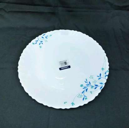 Luminar plates/6pc luminar plate/Dinner plate/Flowered plate image 2