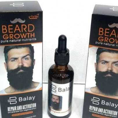 Beard growth oil available in town.