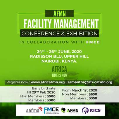 AFRICA FACILITY MANAGEMENT NETWORK & FMCE CONFERENCE AND EXHIBITION image 1